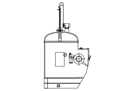 真空炉坩埚快速冷却装置